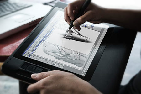 wacom cintiq 12wx in use