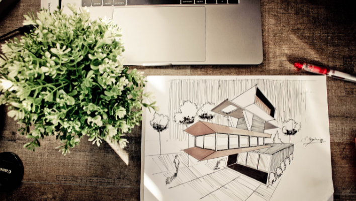image of illustration and laptop
